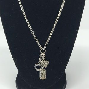 Lois Hill Silver Heart Charm Necklace